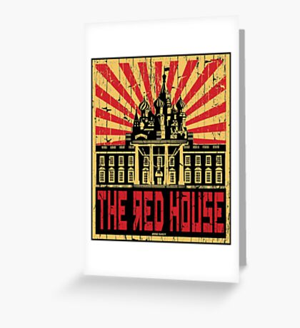 Vintage The Red House Greeting Card
