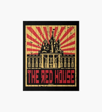 Vintage The Red House Art Board