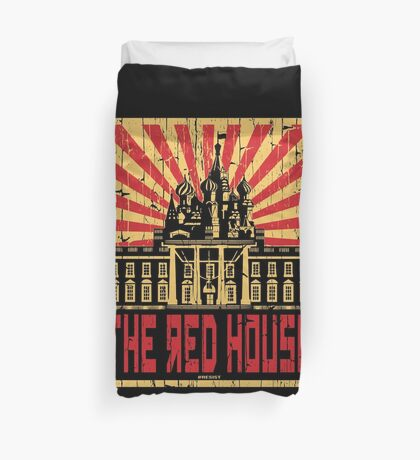 Vintage The Red House Duvet Cover