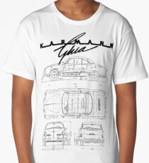 Karmann Ghia Blueprint BLK Volkswagen Long T-Shirt