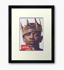 Kendrick Lamar - Retro  Framed Print