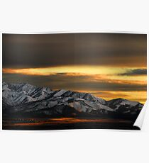Saratoga Springs at Sunset Poster