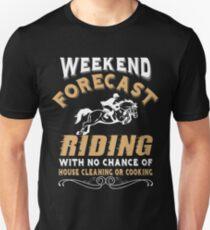 Weekend Forecast Riding T Shirt T-Shirt