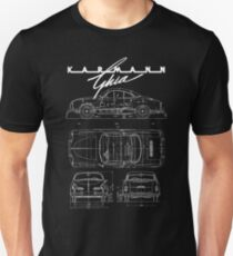 Karmann Ghia Blueprint WHT Volkswagen T-Shirt