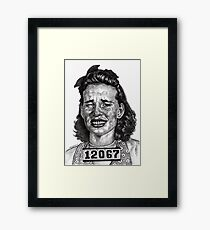 Wowie Zowie!!! Arrested For A Cat Fight At The Roller Rink Framed Print