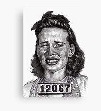 Wowie Zowie!!! Arrested For A Cat Fight At The Roller Rink Canvas Print