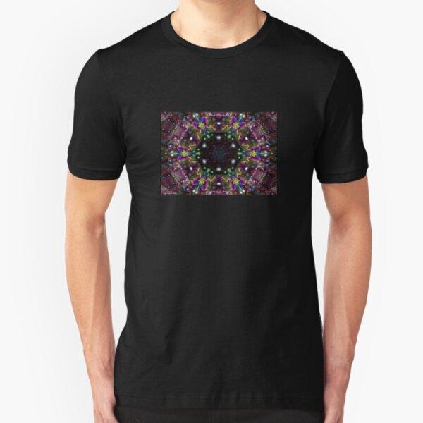 Water Kaleidoscope4 Slim Fit T-Shirt
