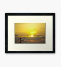 TV Sunrise. Framed Print