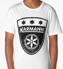 Karmann 3 Star Badge DISTRESSED BLK Volkswagen Long T-Shirt