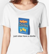 "Dorites ""Just Relax Have A Dorite"" Women's Relaxed Fit T-Shirt"