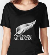 LOGO NEW ZEALAND ALL BLACKS Women's Relaxed Fit T-Shirt