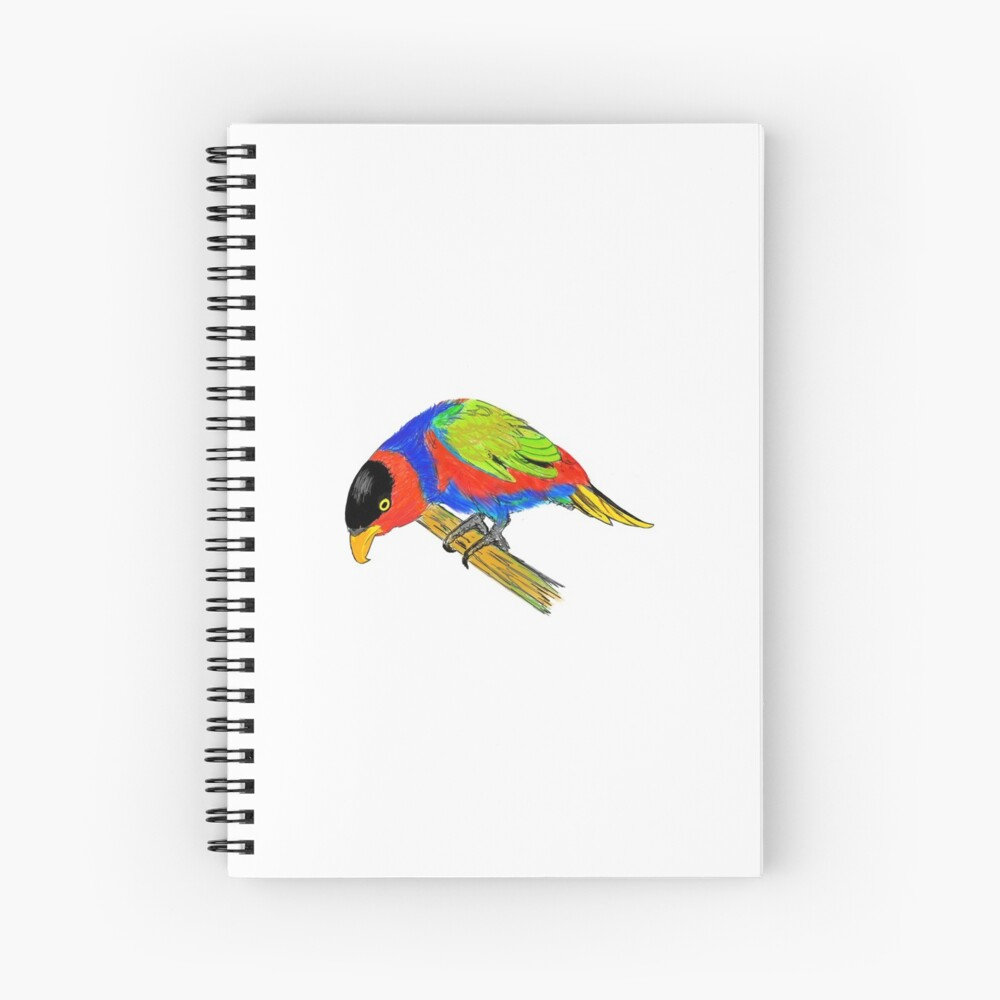 Black-capped Lory Spiral Notebook