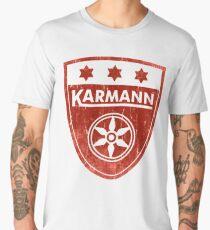 Karmann 3 Star Badge DISTRESSED RED Volkswagen Men's Premium T-Shirt