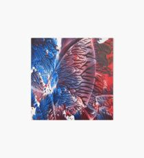 Blue Red Abstract Art Board
