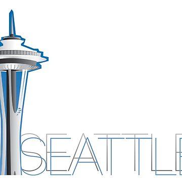 Seattle - Space Needle by henryhackett