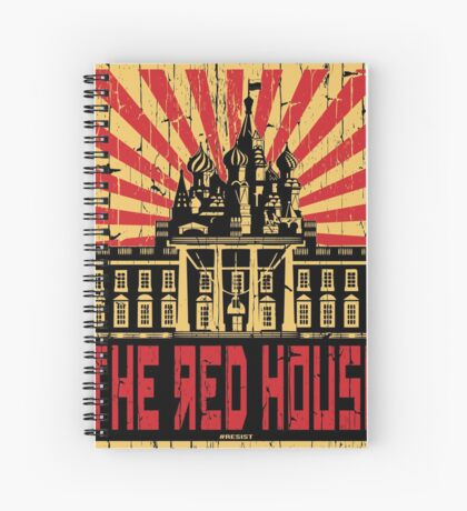 Vintage The Red House Spiral Notebook