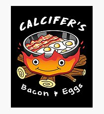 Calcifer's Bacon and Eggs Photographic Print