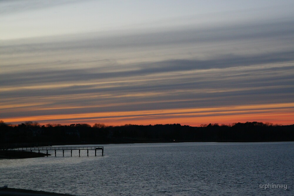 A Pier in the Winter Sunset by srphinney