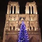 Christmas Tree by Notre-Dame by Elena Skvortsova
