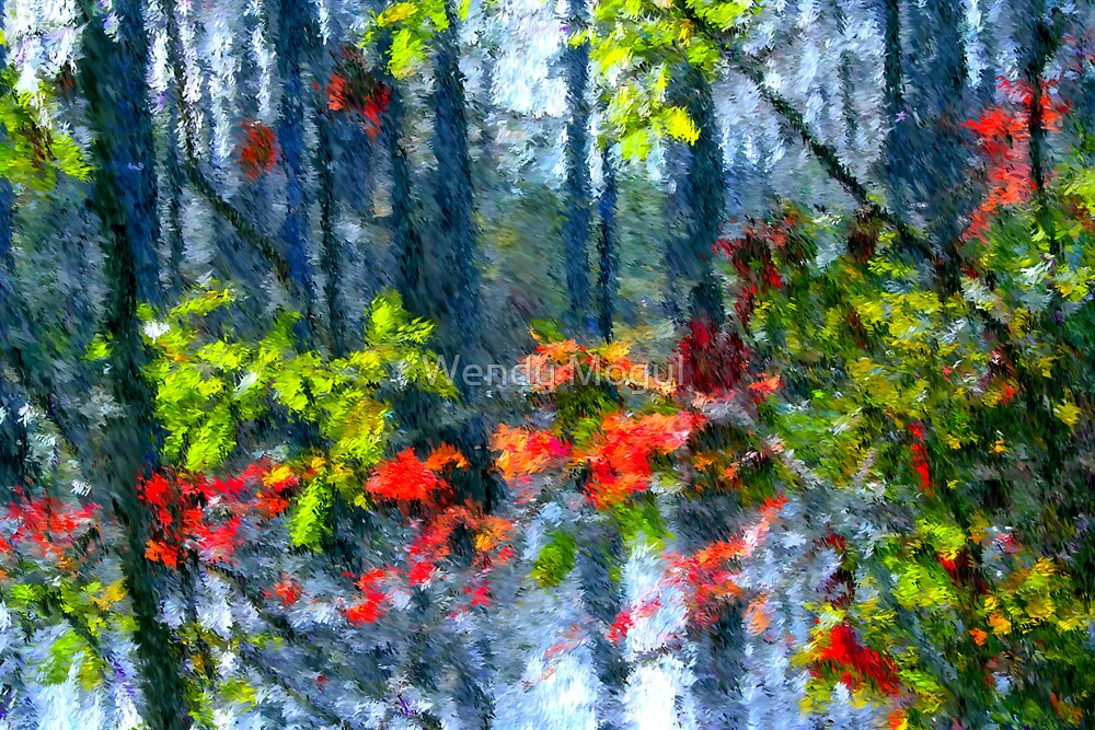 Fall Leaves by Wendy Mogul