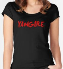 Yangire Anime Shirt Women's Fitted Scoop T-Shirt