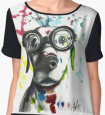 Not Your Typical Pooch Women's Chiffon Top