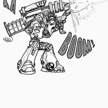 Ka-BOOM Bot by pencilrebellion