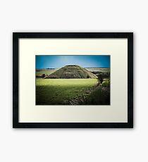 Light Shining on Silbury Hill Framed Print