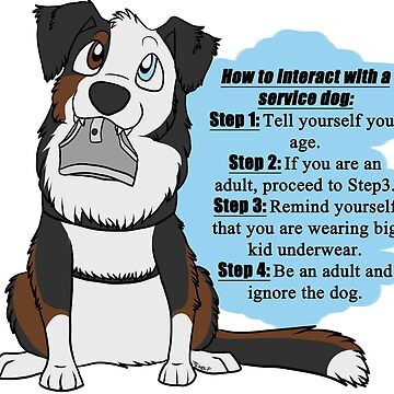 How To Interact With a Service Dog by tiewolf