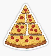 pizza pyramid Sticker
