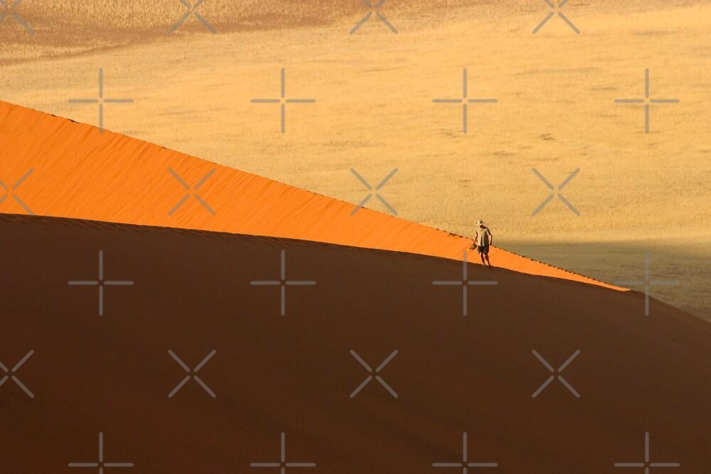 Tourist on Dune 45 by Adrianne Yzerman