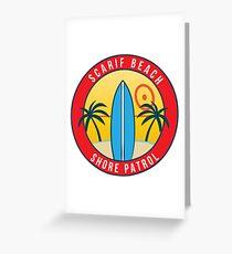 Scarif Shore Patrol Greeting Card