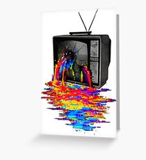 television full color Greeting Card