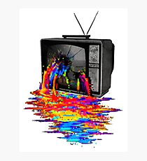 television full color Photographic Print