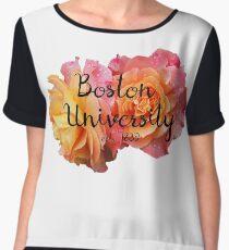 Boston University BU Chiffon Top
