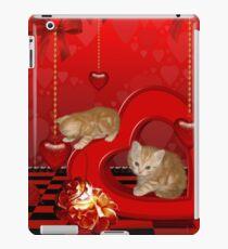 Cute, playing kitten  iPad Case/Skin