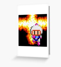 Bomberman Explosion Greeting Card