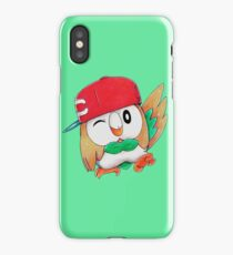 Rowlet / Mokuroh with Ash's hat iPhone Case/Skin