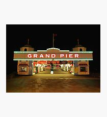 Grand Pier Entrance Photographic Print