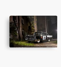 Steve Barks' 1957 Chevrolet Coupe 'Black Widow' Metal Print