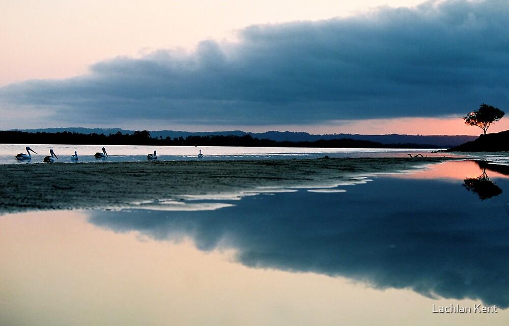 Richmond River sunset - Ballina by Lachlan Kent