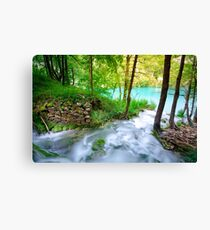 Plitvice Lakes, Croatia. Natural park with waterfalls and turquoise water Canvas Print