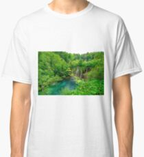 Plitvice Lakes, Croatia. Natural park with waterfalls and turquoise water Classic T-Shirt