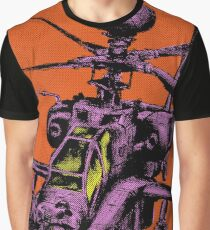 Pop Art Attack Helicopter  Graphic T-Shirt