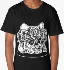 Floral French Bulldog Shirt Long T-Shirt