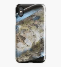 Burnished And Painted Metal Disc iPhone Case/Skin