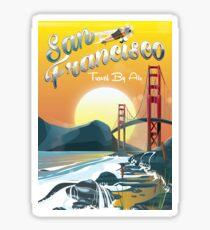 San Fransisco Golden Sunset  Sticker