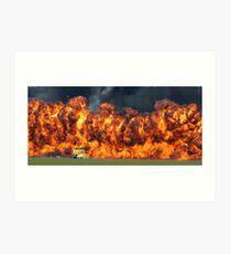 Fire wall Art Print