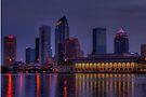 Tampa Skyline by Kim McClain Gregal
