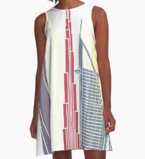 Dubai V2 skyline poster A-Line Dress